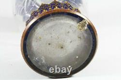 Gebruder Feix Persian Enamel Bohemian Art Glass Vase c. 1900 RARE