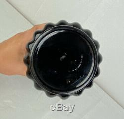George Sakier Art Deco Black Glass Lotus Vase For Fostoria Largest Size Rare