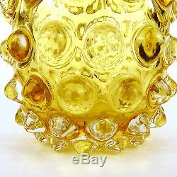 Glas Vase ´lenti´ Ercole Barovier & Toso Art Glass Murano Italy um 1940-1950