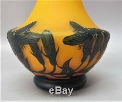 Gorgeous LOETZ (RICHARD) WISTERIA Art Nouveau Cameo Glass Vase c. 1915 antique