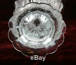 Gorgeous Lalique Style Art Deco Satin Glass Bacchantes Vase Dancing Nudes 8.5'