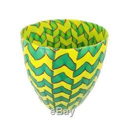 James Carpenter Venini Murano Art Glass Calabash Vase Etched Signature