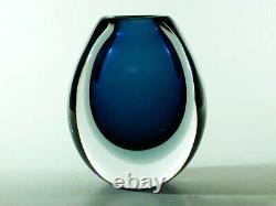 KOSTA Sommerso Glas Vase ° Design Vicke Lindstrand ° sweden art glass
