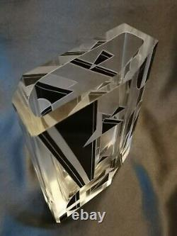Karel Palda Czech Art Deco Highly Stylized and Hand Faceted 1930s Vase