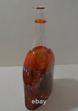 Kosta Boda Art Glass Signed Bertil Vallien Vase Bottle # 89725
