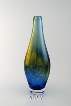 LARGE Sven Palmqvist, Orrefors KRAKA art glass vase, net pattern