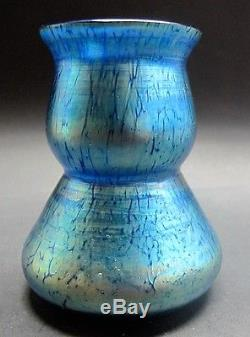 LOETZ ART NOUVEAU Miniature Art Glass Vase Papillion Decor c. 1910 antique