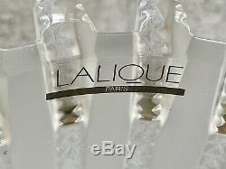 Lalique Art Deco Royat Vase New in Box Signed and Guaranteed Authentic Stunning