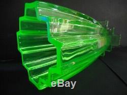 Large Art Deco Green Vaseline / Uranium Glass Vase