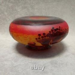 Le Verre Français Schneider vase ancien Art déco french cameo glass