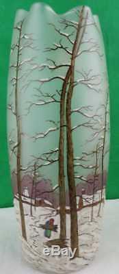 Legras Enameled Art Glass Vase! Gorgeous