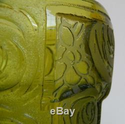 Legras Montjoye Saint Denis Antique Vase Art Deco 1930 Degage Acide Etched Glass