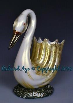 Loetz Austria Art Glass Swan Vase Circa 1892