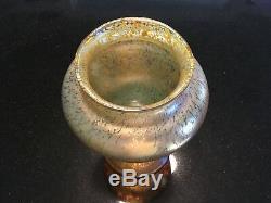 Loetz Austrian Antique Art Nouveau Iridescent Oil Spot Design Vase 13 C. 1900