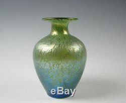 Loetz Austrian Art Glass Oil Spot Cabinet size Vase