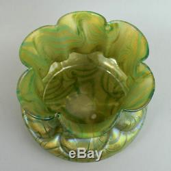 Loetz Austrian Art Nouveau Iridescent Glass Vase C. 1900