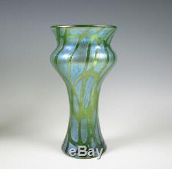 Loetz Austrian/Bohemian Art Glass Cabinet Size Vase Pampas