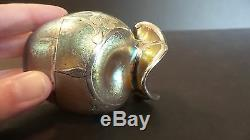 Loetz Candia Silberiris Sterling Silver Overlay Art Nouveau Petite Vase