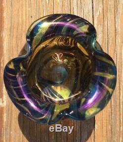Loetz Czech Art Glass Vase GREAT COLOR