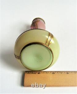 Loetz Kralik Austria Overlay Pink Opalescent Uranium Art Nouveau Glass Vase 1900