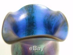 Loetz Silberstreifen glass vase Art Nouveau Czech Bohemian Phanomen