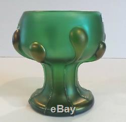 Loetz VESUVIAN Creta Glatt Art Glass Vase, TADPOLES, c. 1900-1905