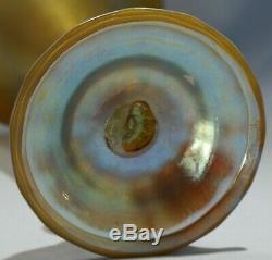 Louis Comfort Tiffany Art Nouveau Favrile Art Glass Trumpet Vase Circa 1900