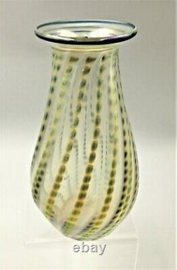 Lundberg Studios Iridescent Art Glass Vase Signed / Dated 2011