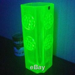 MCM URANIUM vtg Riihimaen Lasi Oy Riihimaki Rondella Vase scandivanian art glass