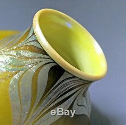 MYSTERY Iridescent Art Glass Vase Tiffany Studios Steuben Quezal Nash Kew Blas