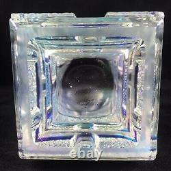 Mid Century Art Glass Iridescent Vase by Jiri Zejmon Rudolfova Hut Sklo Union