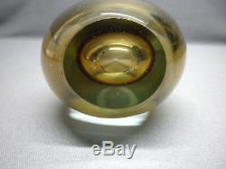 Mid Century Murano Flavio Poli Seguso Vetri dArte Glass Sommerso Teardrop Vase