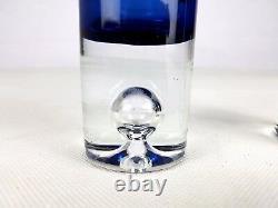 Mid Century PAIR 2 x LITTALA Finland Tapio Wirkkala Art Glass VASE 3586 Signed