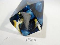 Midcentury MANDRUZZATO Italian Murano Faceted Sommerso 6.5 VASE Art Glass