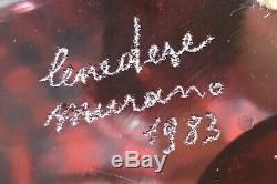 Murano Art Glass Cenedese Vase Signed