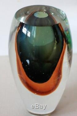 Murano Italian Art Glass Artistic Design Bud Vase Unique One of a Kind