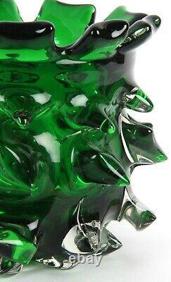 Murano Italian Art Glasss Brutalist Vase Barovier Toso Seguso Sklo Eames Era