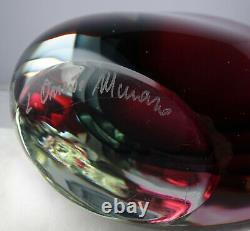 Onesto Oggetti Murano Modern Art Glass Triple Sommerso Vase Eames Era Signed