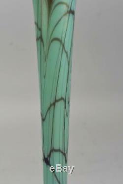 Pair Fenton Off Hand Art Glass Vases 12 Tall