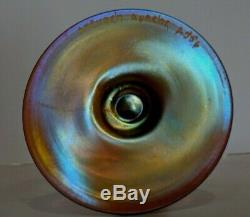 Pair of Antique Steuben Gold Aurene Art Deco US Glass Rose Flower Bud Stick Vase