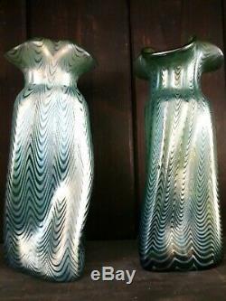 Pair of Loetz Art glass Vases Creta Phaenomen 1898' 1900