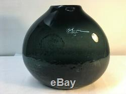 RARE Wayne Husted Blenko Charcoal Vase. Mid Century Modern Art Glass MCM