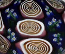 Rare Art Nouveau Fratelli Toso Millefiori Murano Glass Flower Murrine Vase 5,9