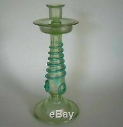 Rare Art Nouveau Orpheus Candlestick by Great Glass Vase Maker Loetz, 1903