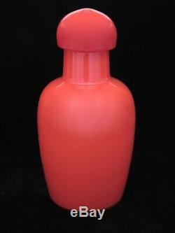 Rare Giant Murano Art Glass Pop Art Bottle Vase & Stopper Venini Scarpa Cenedese