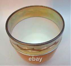 Rare Pair of Signed STEUBEN INTARSIA Art Glass Shades c. 1915 antique vase