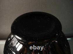 Rare Pierre D'Avesn French Art Deco Black Ebony Les Nenuphars Vase France 1925