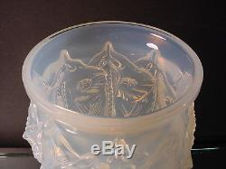 Rare Sabino Art Glass Sculpted Manta Raie Opalescent Vase Art Deco France 1930