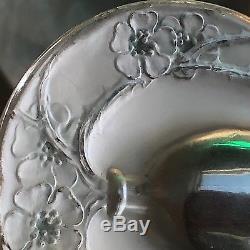 Rare Signed Rene Lalique Vase de Fleurs Seal Art Deco