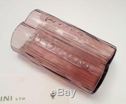 Rare Signed Venini Italian Murano Art Glass Promotional Advertising Vase 1967